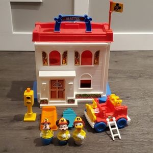 Vintage Mattel Mickey Mouse Fire Station Playset